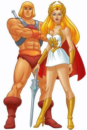 He man and She ra illustrations
